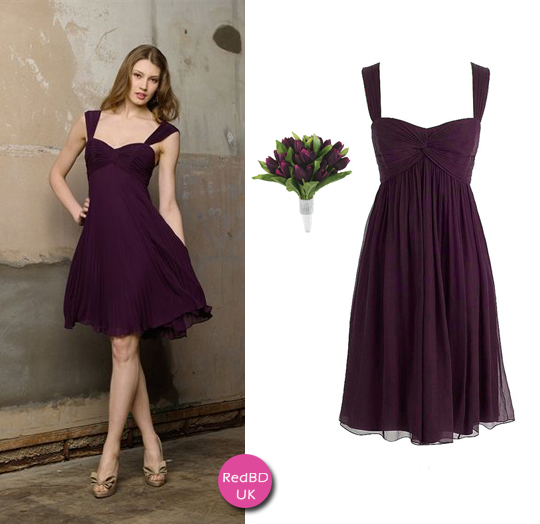 plum bridesmaid dresses with straps in fall wedding