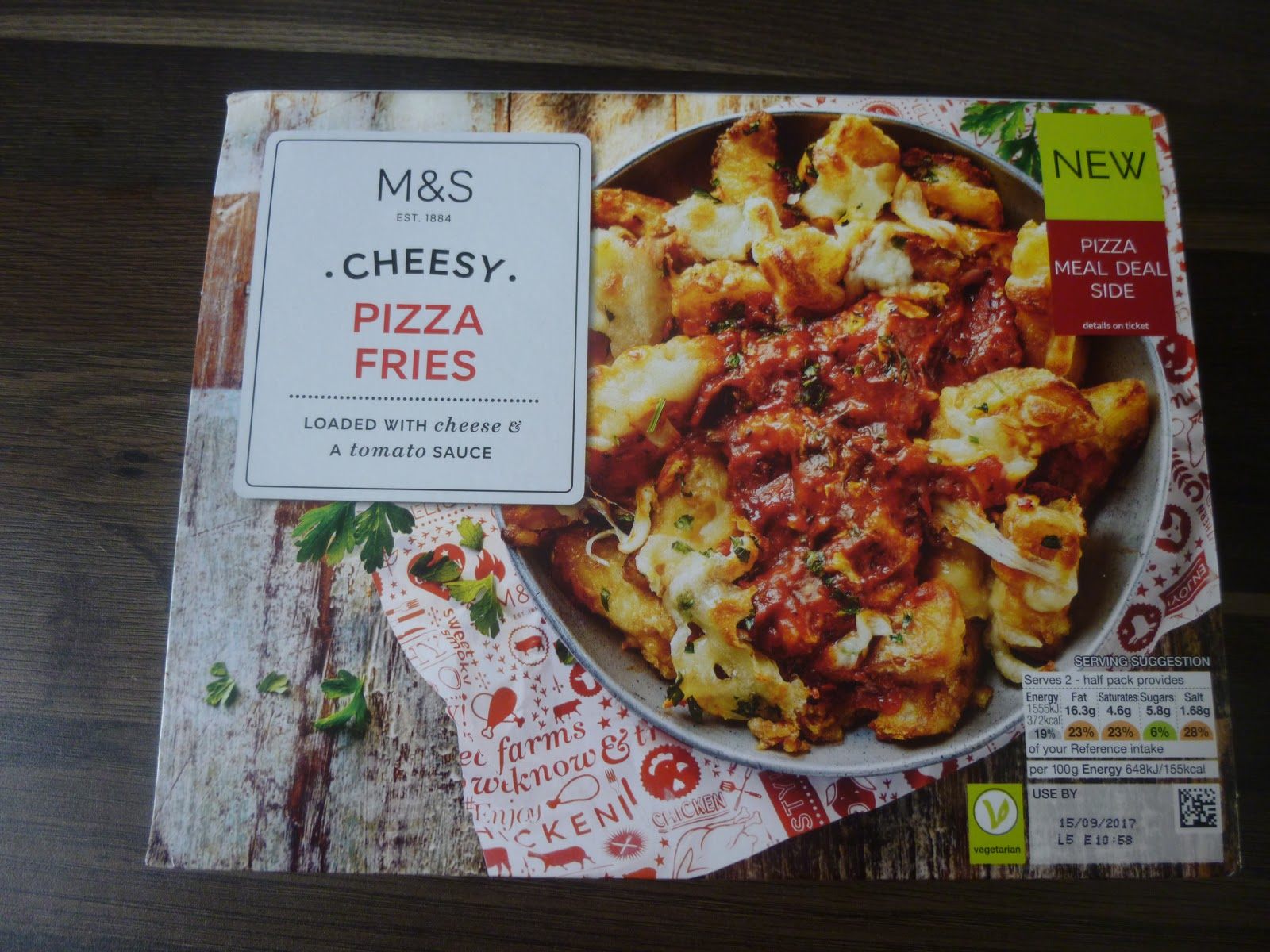 Marks Spencer Food Reviews Ms Cheesy Pizza Fries