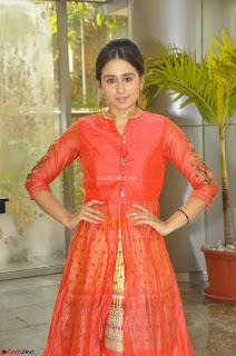 Simrat in Orange Anarkali Dress 28.JPG