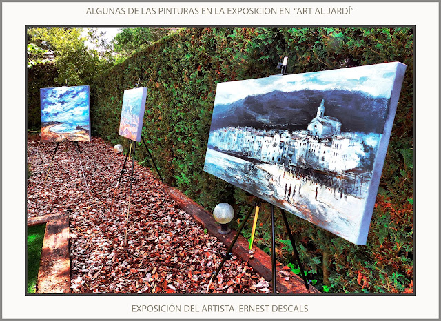 EXPOSICIONS-PINTURA-ART AL JARDÍ-PINEDA DE BAGES-MANRESA-PINTURES-CADAQUÈS-EXPOSICIÓ-ARTISTA-PINTOR-ERNEST DESCALS-