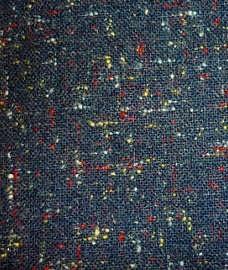 multi-coloured fleck suit close-up