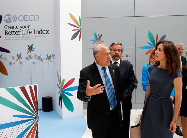 Crown Princess Mary attended the opening of Organisation for Economic Co-operation and Development forum at the OECD Conference Centre in Paris