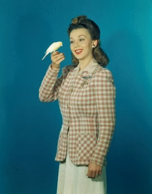 Carole Landis Holding A Canary