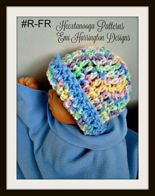 Hectanooga Patterns Easy Sweet Crochet Baby Hat Free Pattern