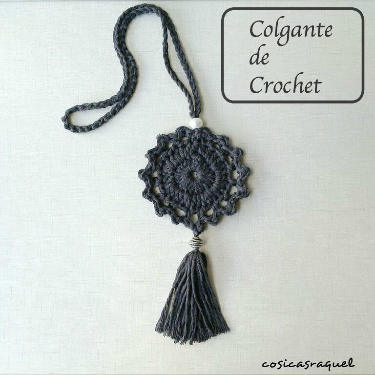 Colgante de Crochet - Handbox Craft Lovers | Comunidad DIY ...