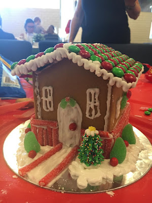 Easy Gingerbread House Design with Christmas M&M's