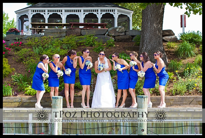 Bridal Party Portrait Port Annapolis Marina Wedding