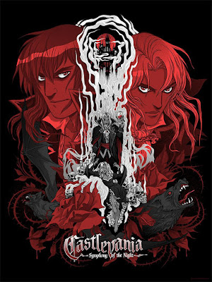 San Diego Comic-Con 2018 Exclusive Castlevania: Symphony of the Night Screen Print by Becky Cloonan