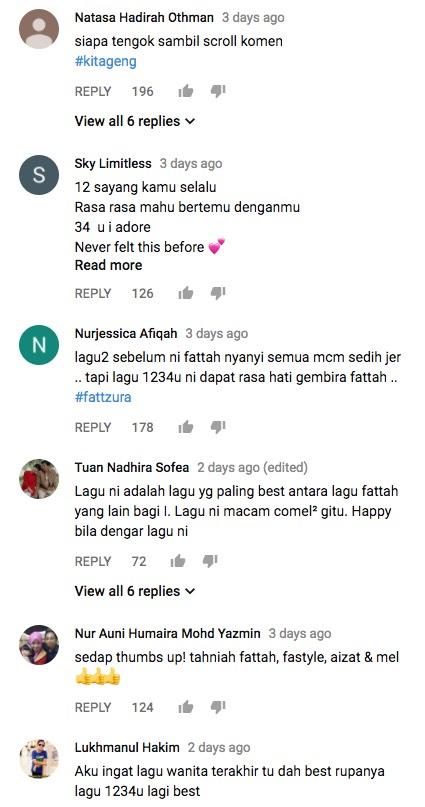 """Respon Netizen Fattah Amin Lancar Lagu Baru """"1234U"""""""