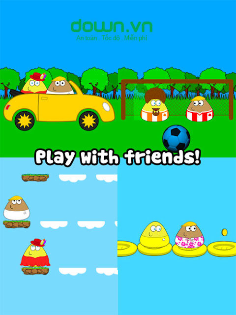Tải game Pou - game cực vui nhộn cho android ios