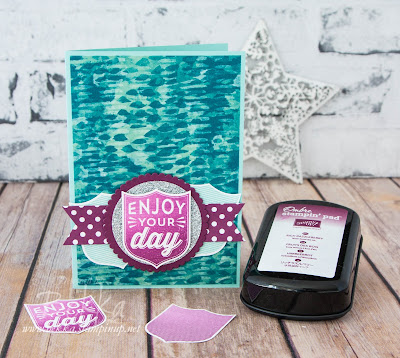 Ombre Enjoy Your Day Badges and Banner Card made with supplies from Stampin' Up! UK - buy Stampin' Up! here