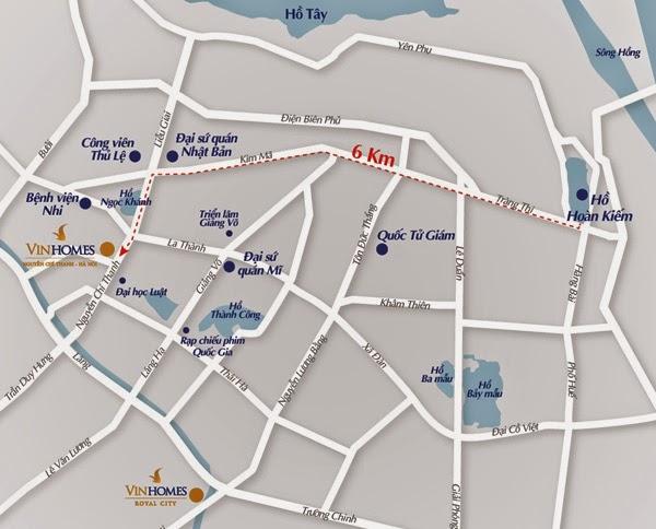 Vị trí chung cư Vinhomes Nguyễn Chí Thanh
