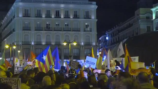"""Manifestación en Madrid en apoyo a los """"presos políticos"""""""