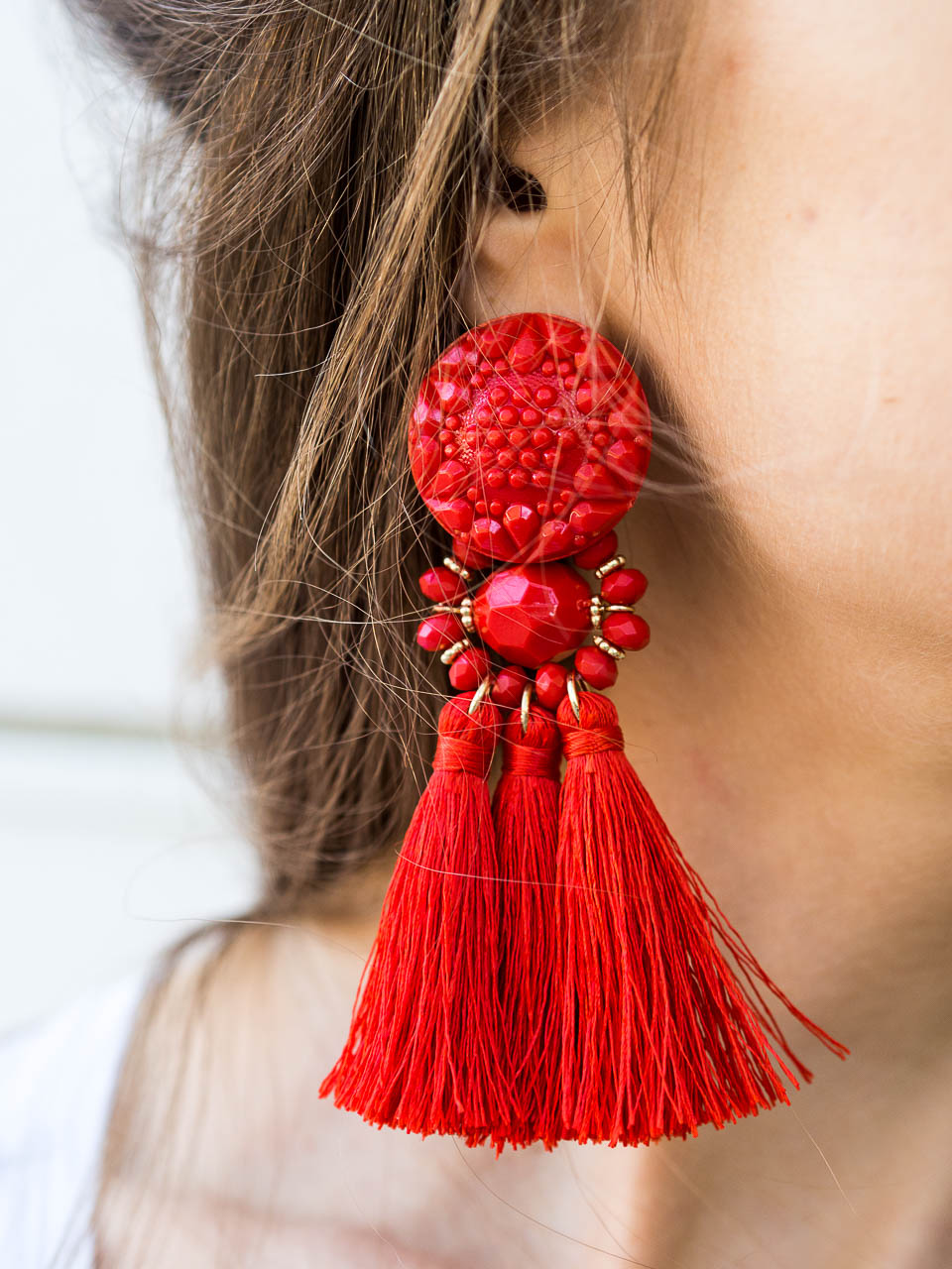 red-tassel-earrings