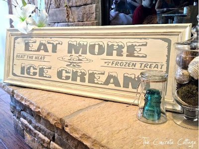 DIY Vintage Soda Shop Sign