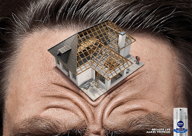 Foto manipulación para publicidad de crema contra las arrugas