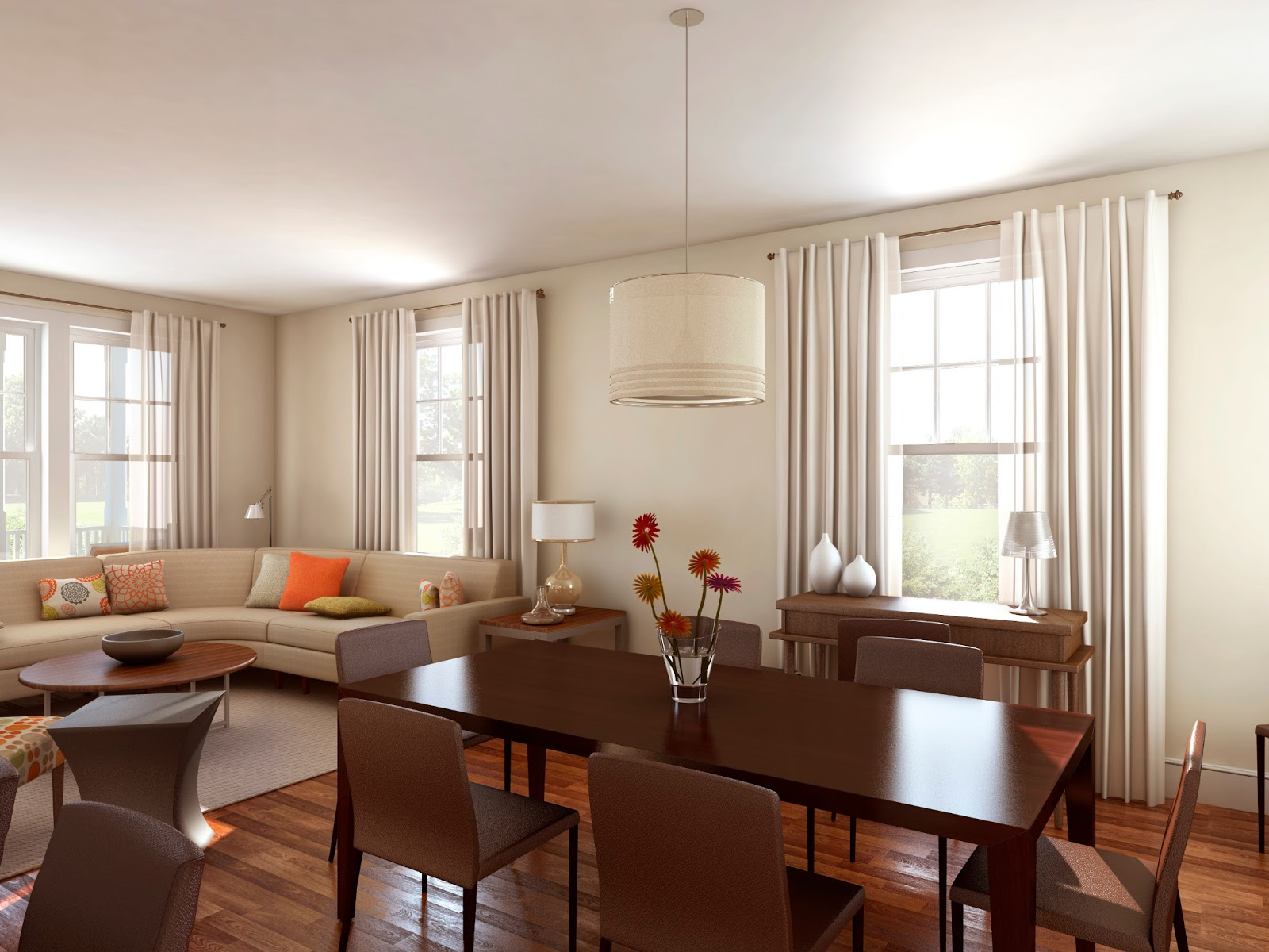 living room and dining room together 2014 ~ Room Design Ideas