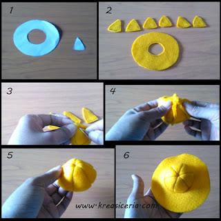 Tutorial topi boneka dari bahan kain flanel