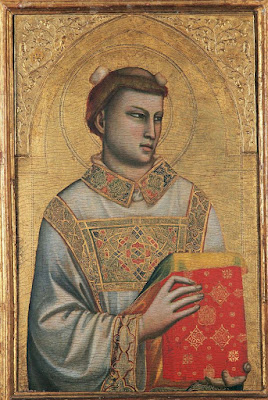 """St. Stephen"" by Giotto in the Horne Museum, Florence"