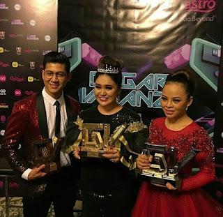 azharina juara gegar vaganza musim ketiga 2016, juara GV3 2016, pemenang anugerah persembahan terbaik pilihan penonton, senarai peserta GV3 2016