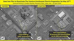 Hoạt động bất thường trong nhà máy làm giàu uranium của Iran được vệ tinh Israel thu thập