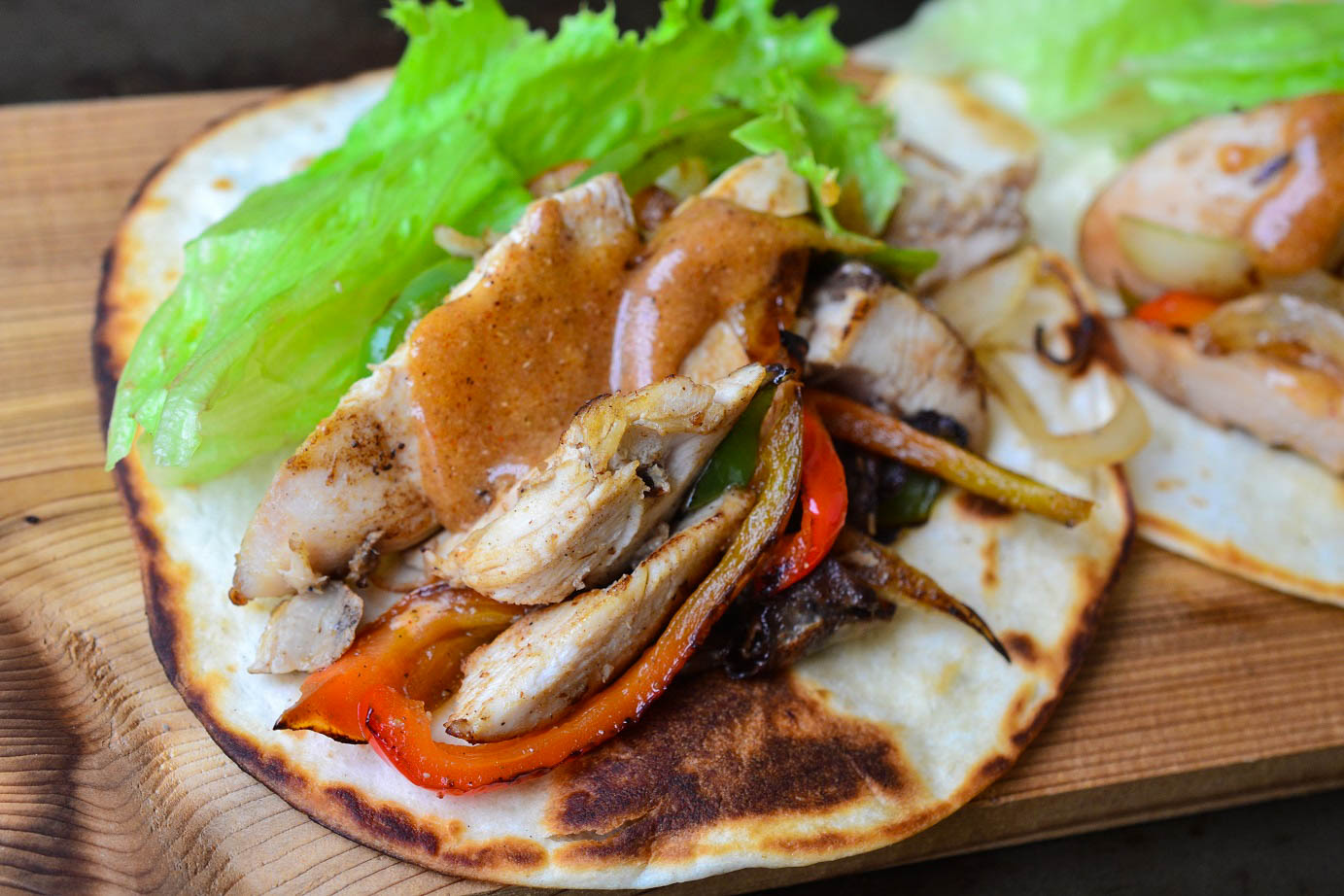 Greedy Girl Chicken Fajitas With Sweet And Spicy Mayo