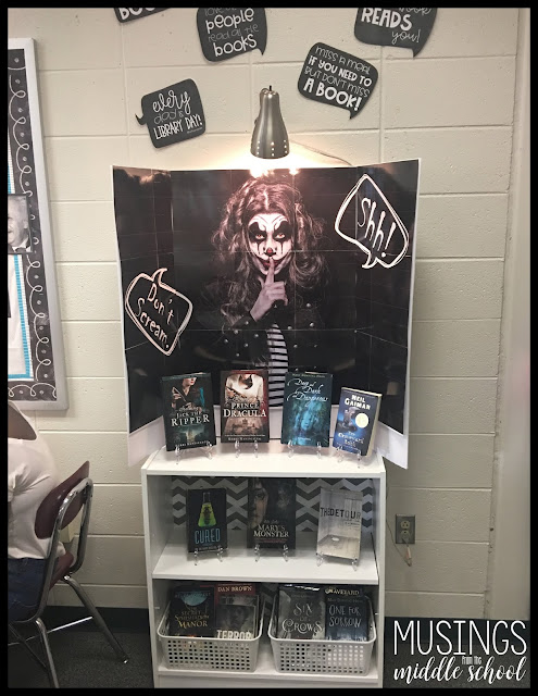 October Book Display for the Classroom Library