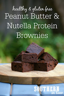 Healthy Peanut Butter Nutella Protein Brownies Recipe Gluten Free