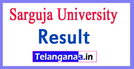 Sarguja University Results 2018