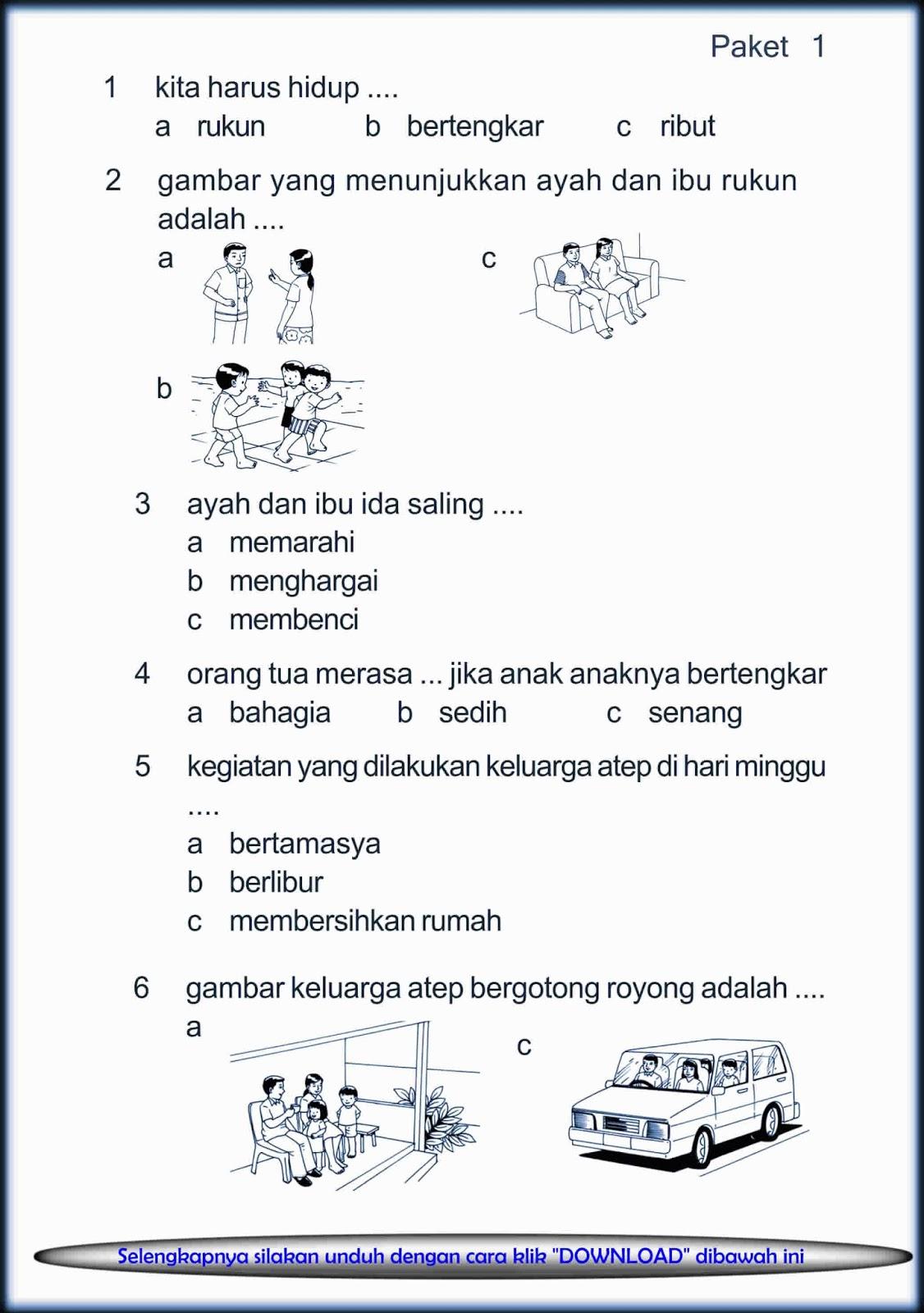 Download Soal UTS PKn Kelas 1 Semester Ganjil 2015 / 2016 ...