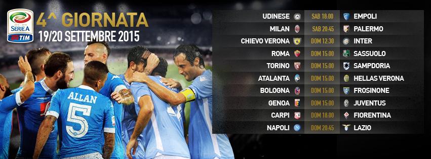 4a giornata di Serie A, Inter e Roma a caccia di conferme