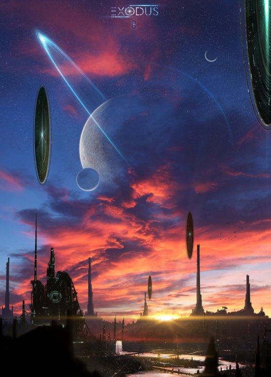 Jonathan Maurin aeon-lux deviantart ilustrações fantasia ficção científica cenários espaciais