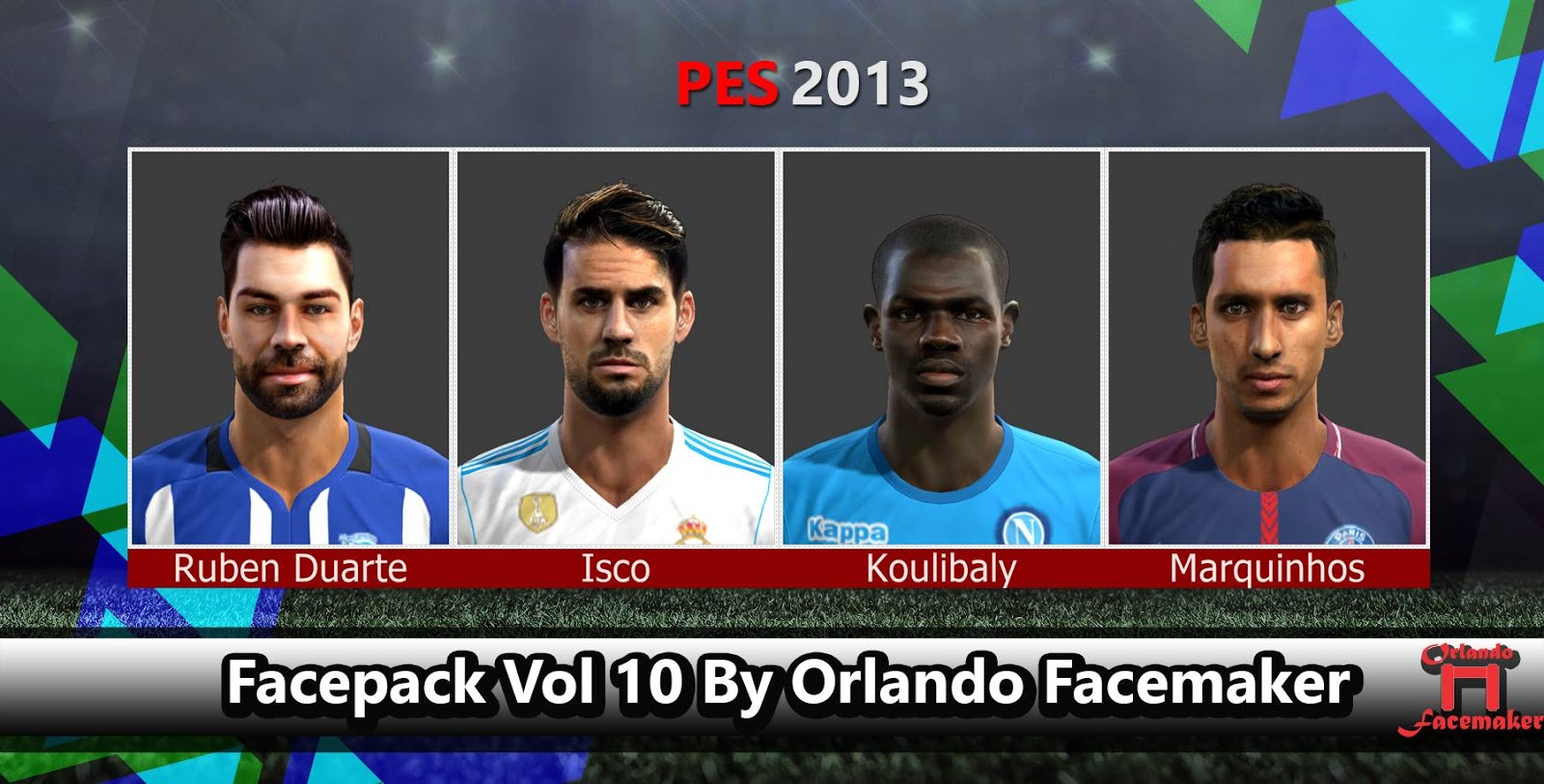PES 2013 Facepack Vol 10 By Orlando Facemaker