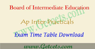 AP Inter practicals time table 2020 BIEAP hall tickets