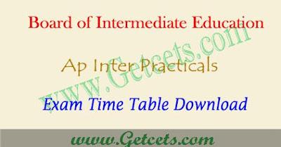 AP Inter practical exam date 2021 bieap practicals time table