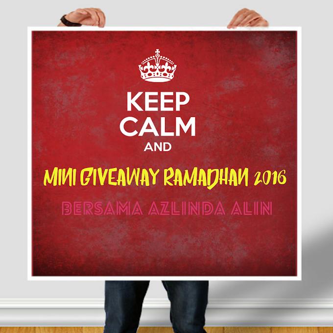 Giveaway Ramadhan 2016 Bersama Azlinda Alin
