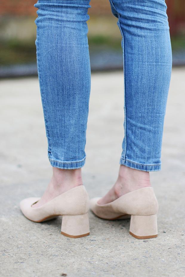 Zara nude classic shoes