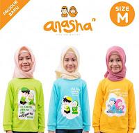 Dusdusan Kaos Anak Islami Anasha (Set of 3) - Puteri ANDHIMIND