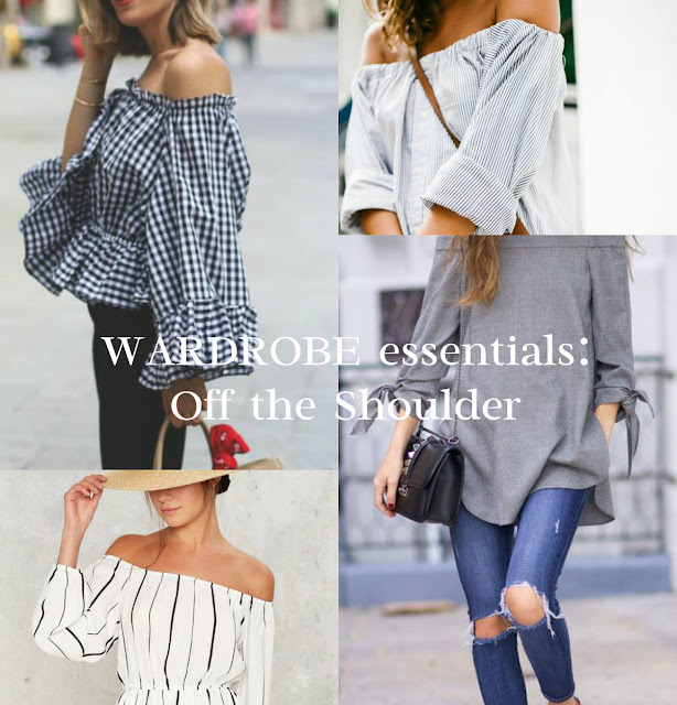 off the shoulder tops and dresses trend