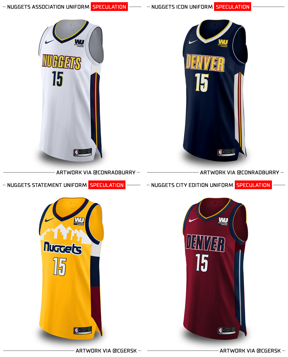 Denver Nuggets Basketball Colors: Nuggets And Grizzlies Will Make Changes Color In 2018-2019