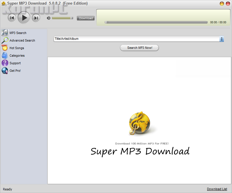 Get Super MP3 Download Crack