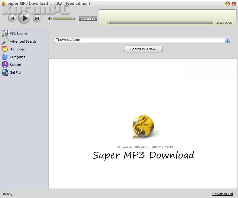 Get Super MP3 Download Crack