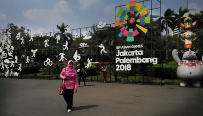 Atribut Asian Games 2018 di Monas