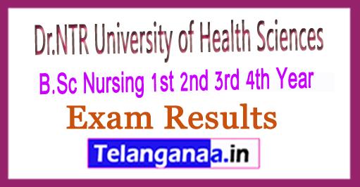 NTRUHS B.Sc Nursing 1st 2nd 3rd 4th Year (NS) Results 2018