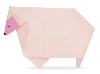 Sheep - Easy Origami instructions For Kids | 255x345