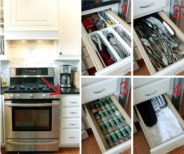 Messy Work Kitchen: Five Easy Steps To Organize Drawers Using Dividers
