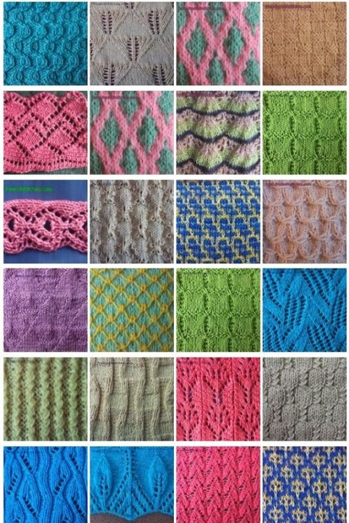 Knit Stitch Library + 400 Knitting Stitches