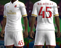 Milan 16/17 away kit Pes 2013