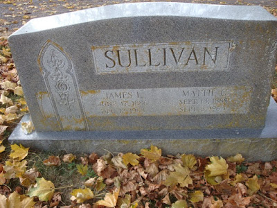 Tombstone James Ira Sullivan and Mattie Bell Claytor  https://jollettetc.blogspot.com