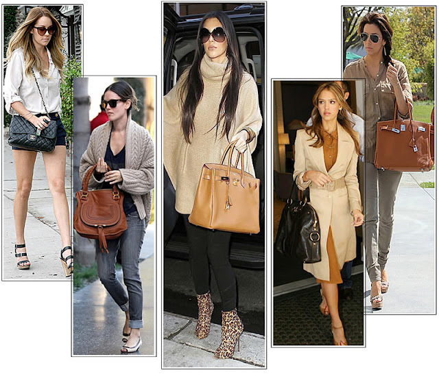 Celebrities with Designer Handbags